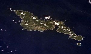 Tutuila - Tutuila and Aunu'u from Earth orbit.