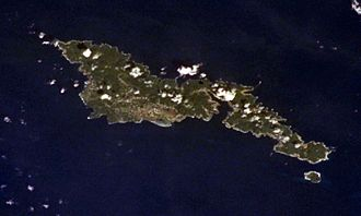 Tutuila - Tutuila and Aunu'u from Earth orbit