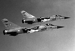 Two French air force Dassault Mirage F1C aircraft