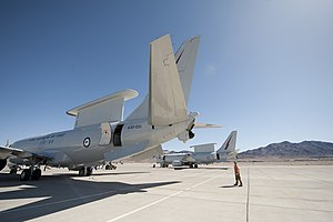 Boeing 737 AEW&C - Two RAAF Wedgetails at Exercise Red Flag 2013
