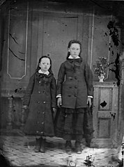 Two girls standing