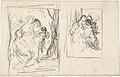 Two studies for a figure composition, including three women and a child MET DP805946.jpg