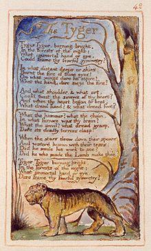 Lastra con la poesia The Tyger di William Blake