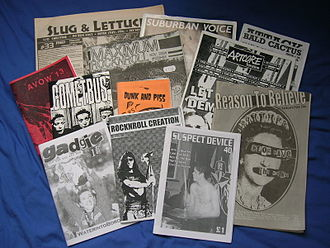 Punk zine - British and American punk zines, 1994–2004.