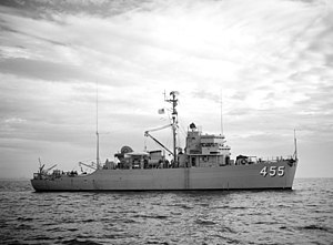 USS Implicit (AM-455) - Implicit in 1954.