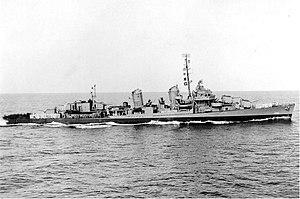 USS Isherwood (DD-520) underway, circa in late 1945