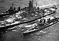USS Massachusetts (BB-59) refuels Fletcher class destroyers 1945.jpg
