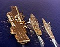 USS Midway (CV-41) and Bainbridge (CGN-25) underway 1984.JPEG