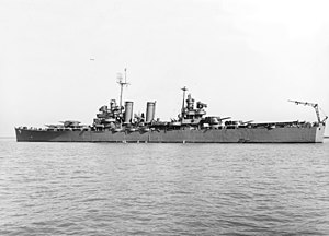 USS Nashville (CL-43) - Image: USS Nashville (CL 43) off the Mare Island Naval Shipyard on 4 August 1943