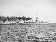 USS Richmond (CL-9) underway during trials on 11 May 1923 (NH 108339)