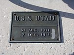USS Utah bell plaque at the University of Utah - 7 Dec 2012.JPG