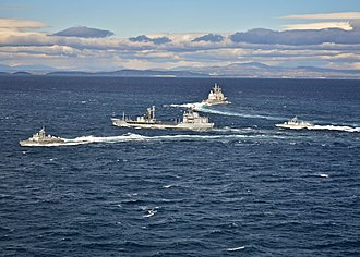 Croatian Navy - NATO Maritime Group 2 (SNMG2) ships with Croatian missile boats Šibenik and Zvonimir during an exercise