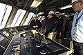 US Navy 080114-N-8273J-032 Chief of Naval Operations (CNO) Adm. Gary Roughead tours the pre-commissioning unit littoral combat ship (LCS) Freedom while visiting Marinette Marine Shipyard.jpg