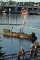 US Navy 080625-N-8298P-067 U.S. Navy and Army Divers look on as the former Soviet submarine Juliett 484 comes to surface for the first time since it sank in April 2007.jpg