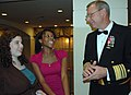 US Navy 081121-N-9268E-002 Vice Adm. Kevin McCoy, commander of Naval Sea Systems Command, talks to a group of students during the third annual Benjamin Banneker Awards Gala.jpg