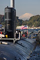 US Navy 091120-N-5013K-002 Mount Fuji is visible behind the Los Angeles-class fast attack submarine USS Pasadena (SSN 752).jpg