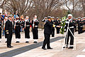 US Navy 100322-N-0506A-108 Chief of Naval Staff of the Pakistan Navy participates in a wreath laying ceremony at the Tomb of the Unknowns at Arlington National Cemetery.jpg