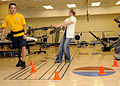 US Navy 100723-N-7214P-020 Machinist's Mate Fireman George F. Avinger practices cone drills during physical therapy in the Comprehensive Combat and Complex Casualty Care facility at Naval Medical Center San Diego.jpg