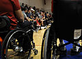 US Navy 101005-N-2055M-248 Paraplegic service members listen to instructions for the events as part of the annual Paralympic Military Sports Camp a.jpg