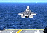 US Navy 111005-N-ZZ999-055 The F-35B Lightning 11 takes off from the amphibious assault ship USS Wasp (LHD 1).jpg