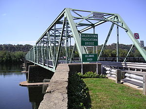 Uhlerstown–Frenchtown Bridge - Image: Uhlerstown Frenchtown Bridge 2