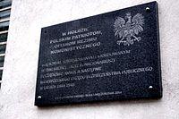 Ul. Strzelecka 8 w Warszawie (tablica).JPG