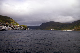 Vågsøy - Ulvesundet at Måløy