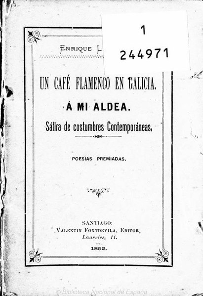 File:Un café flamenco en Galicia. A mi aldea. Sátira de costumbres contemporáneas.pdf