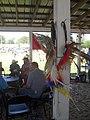 Under the shaded area at the annual Nanticoke Lenni-Lenape powwow, June 2016.jpg