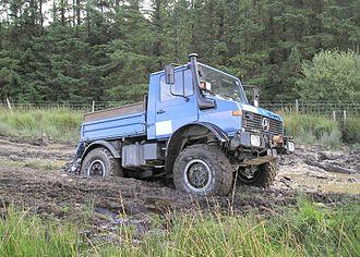 Off-roading - A Unimog U1600 off-roading