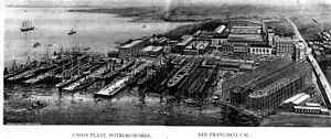 Pier 70, San Francisco - Pier area c. 1918, looking south.
