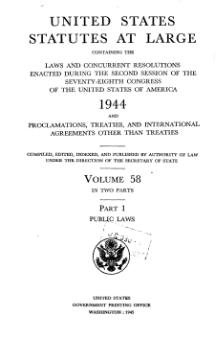 United States Statutes at Large Volume 58 Part 1.djvu