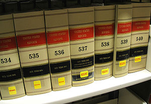 United States Reports - Volumes of the United States Reports on the shelf at a law library