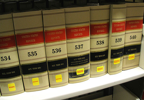Volumes of the United States Reports on the shelf at a law library Unitedstatesreports.jpg