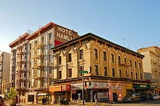 Single room occupancy - The Hamlin Hotel, an SRO hotel in San Francisco's Tenderloin district