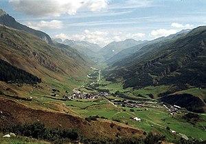 Urserental - View of the Urserental, looking toward Realp