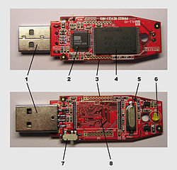 USB key drive internals
