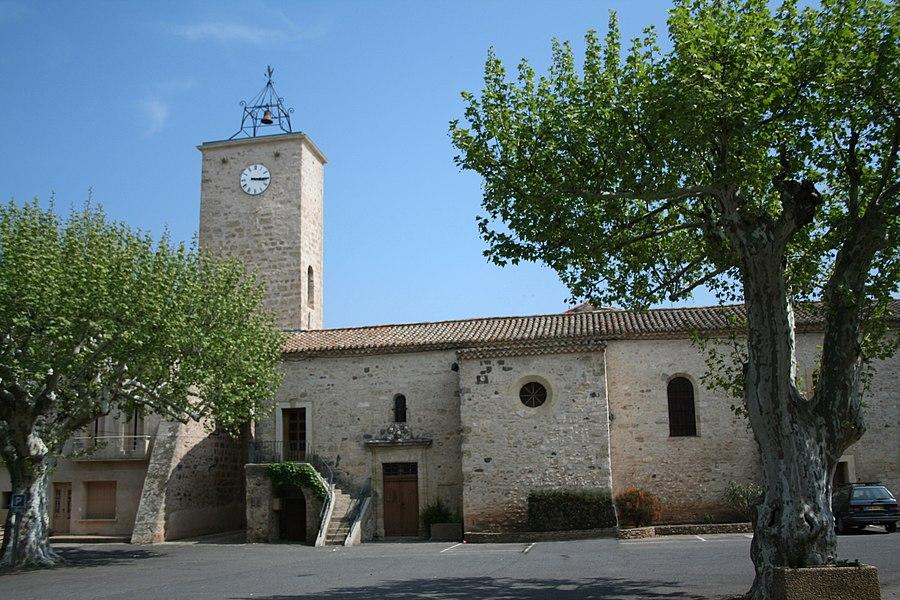 Usclas-d'Hérault (Hérault) - église Saint-Gilles - Tour-clocher.