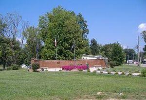 Utica, Indiana - Memorial in Utica, Indiana