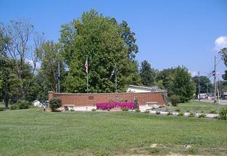 Utica, Indiana - Memorial in Utica, Indiana