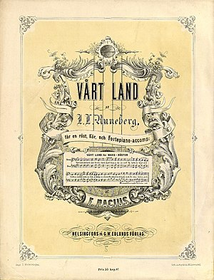 Music of Finland - Vårt land (Maamme), the national anthem of Finland, from 1863