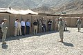 VIPs visit Forward Operating Base Kalagush, in Nuristan Province.jpg