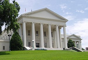Photo of the Virginia State Capitol before ren...
