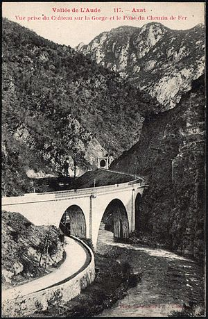 Axat - The railway viaduct in 1910