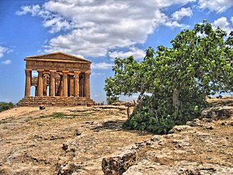 Ancient Greek temple - Temple of Concord in Agrigento, Italy