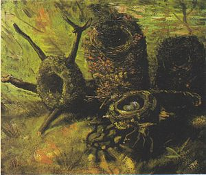 Still life paintings by Vincent van Gogh (Netherlands) - Still Life with Birds' Nests, 1885, Van Gogh Museum, Amsterdam (F111)