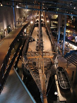 The 17th century warship Vasa.