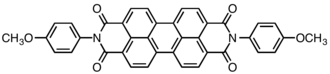 Perylene - Vat Red 29 typical example of a structure with a perylene core