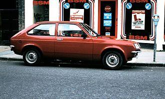 Vauxhall Chevette - The Chevrolet Chevette copied the Vauxhall Chevette's shovel-nose