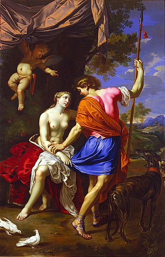 Nicolas Mignard - Venus and Adonis, c.1650